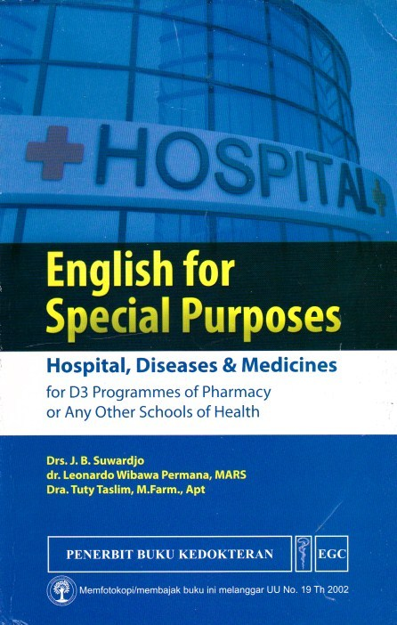 English for Special Purposes HOSPITAL,DISEASES & MEDICINES
